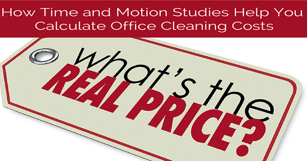 time and motion study templates for cleaning costs