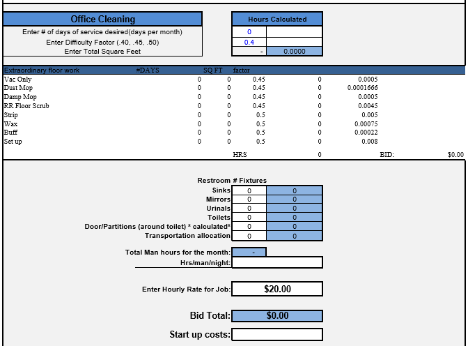 time motion study excel template  Time and Motion Study Templates For Cleaning Costs