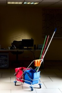 many commercial office cleaning companies do their work at night