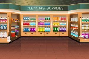 purchasing cleaning supplies in bulk